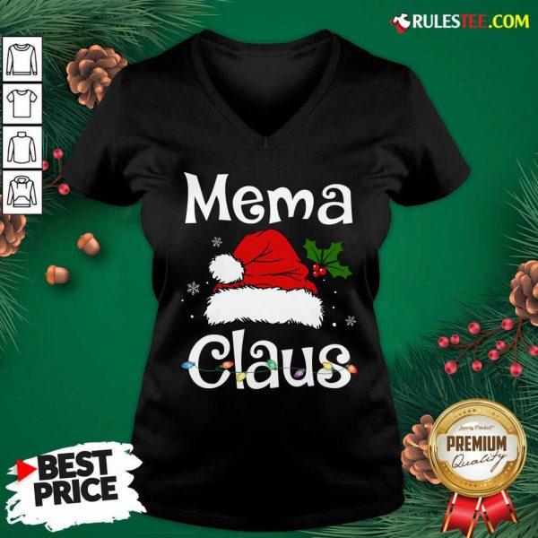 New Beautiful Mema Claus Christmas Family Group Matching Pajama V-neck - Design By Rulestee.com