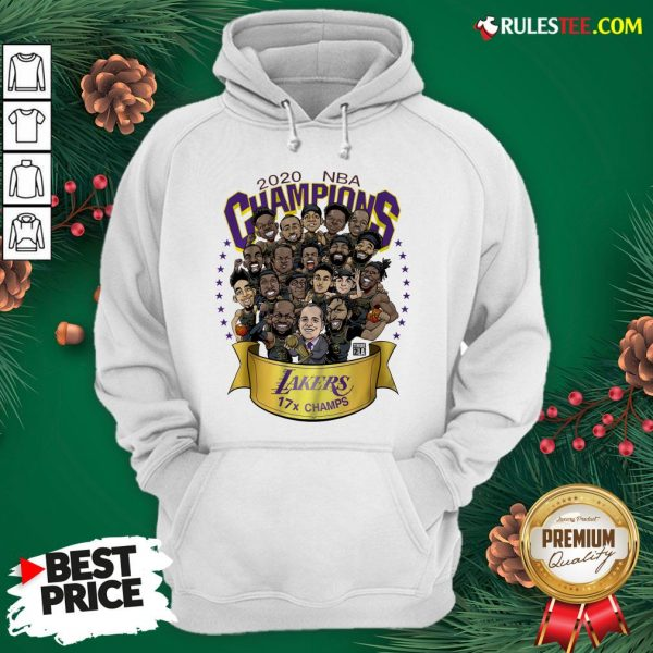 Nice 2020 Nba Champions Los Angeles Lakers 17 Champs Cartoon Hoodie - Design By Rulestee.com