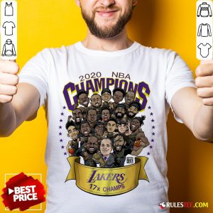 Nice 2020 Nba Champions Los Angeles Lakers 17 Champs Cartoon Shirt - Design By Rulestee.com
