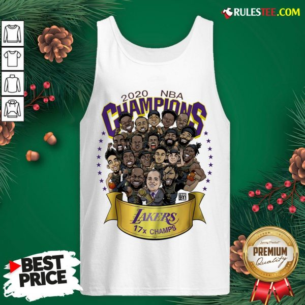 Nice 2020 Nba Champions Los Angeles Lakers 17 Champs Cartoon Tank Top - Design By Rulestee.com