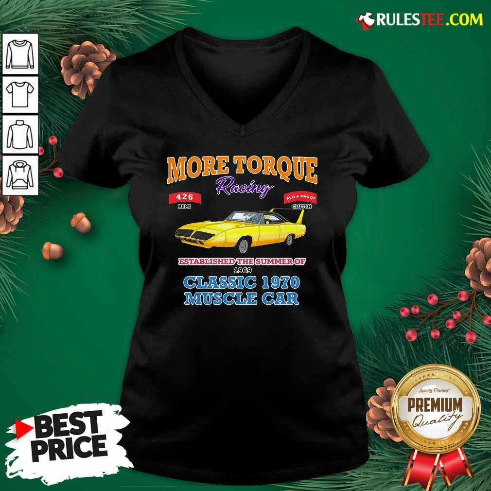 Classic Muscle Car Torque Garage Hot Rod V-neck - Design By Rulestee.com