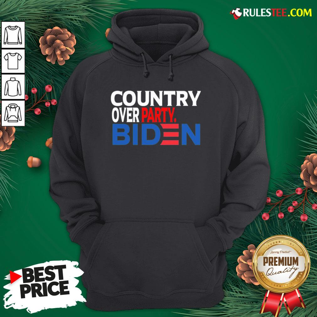 Nice Country Over Party Biden Election Hoodie - Design By Rulestee.com