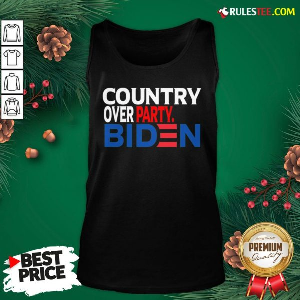 Nice Country Over Party Biden Election Tank Top - Design By Rulestee.com