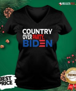 Nice Country Over Party Biden Election V-neck - Design By Rulestee.com