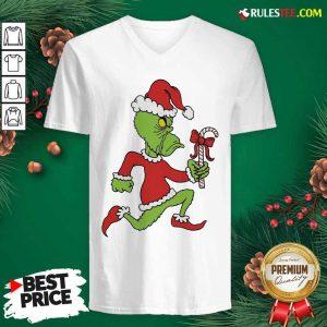 Grinch Merry Fucking Xmas Christmas V-neck - Design By Rulestee.com