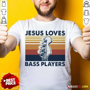 Guitar Jesus Loves Bass Players Vintage Shirt - Design By Rulestee.com