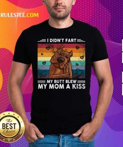 I Didn't Fart My Butt Blew My Mom A Kiss Vintage Retro Shirt - Design By Rulestee.com