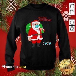 Mask Christmas Mask Santa Claus 2020 Sweatshirt - Design By Rulestee.com