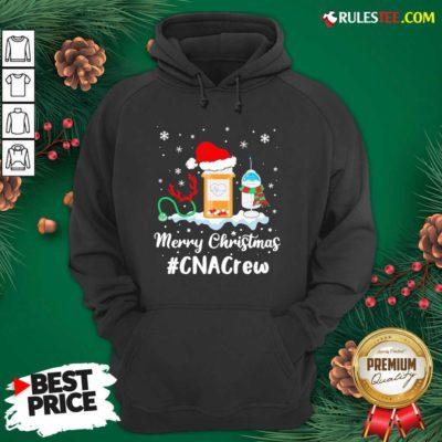 Nurse Santa Vaccine Merry Christmas #CNA Crew Hoodie - Design By Rulestee.com