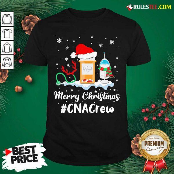 Nurse Santa Vaccine Merry Christmas #CNA Crew Shirt - Design By Rulestee.com