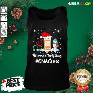 Nurse Santa Vaccine Merry Christmas #CNA Crew Tank Top - Design By Rulestee.com