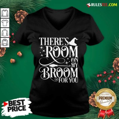There Room On My Broom For You Witch Halloween V-neck - Design By Rulestee.com