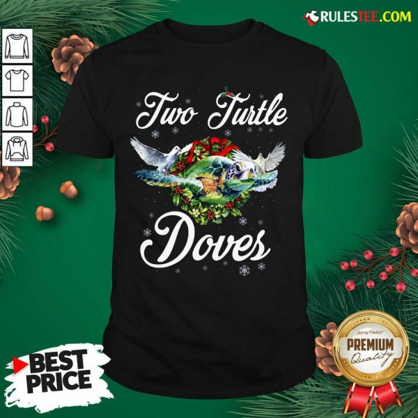 Turo Turtle Doves Merry Christmas Shirt - Design By Rulestee.com