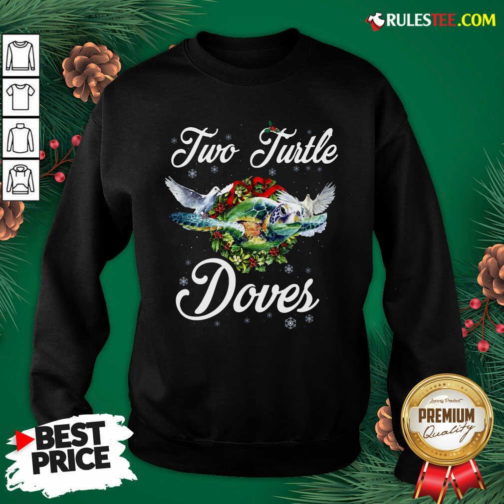 Turo Turtle Doves Merry Christmas Sweatshirt - Design By Rulestee.com