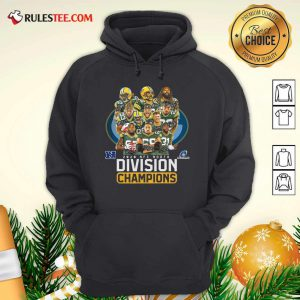 Bay Packers 2020 Nfc North Playoffs Division Champions Signatures Hoodie- Design By Rulestee.com