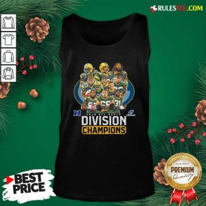 Bay Packers 2020 Nfc North Playoffs Division Champions Signatures Tank Top- Design By Rulestee.com