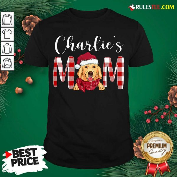 Official Golden Retriever Charlie's Mom Christmas Shirt - Design By Rulestee.com