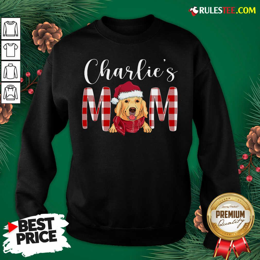 Official Golden Retriever Charlie's Mom Christmas Sweatshirt - Design By Rulestee.com