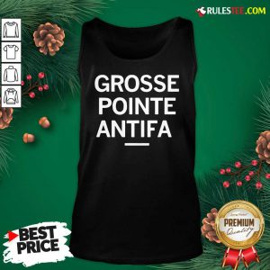 Official Grosse Pointe Antifa Tank Top - Design By Rulestee.com