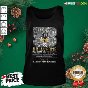 Hall Of Fame 58 Paul Hornung 1935 2020 Thank You For The Memories Signature Tank Top - Design By Rulestee.com