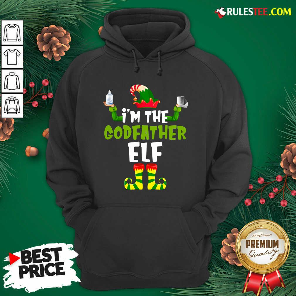 Official Im The Godfather Elf Quarantine Matching Christmas Hoodie - Design By Rulestee.com