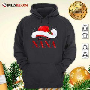 Santa Hat Women Nana Hoodie - Design By Rulestee.com