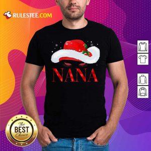 Santa Hat Women Nana Shirt - Design By Rulestee.com