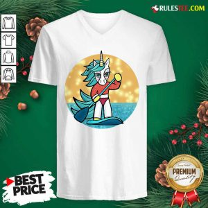 Sup Unicorn Paddleboard V-neck - Design By Rulestee.com