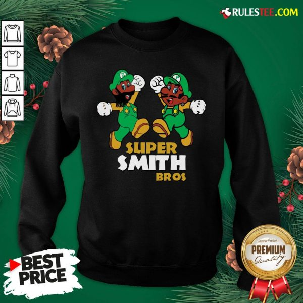 Official Super Smith Bros Sweatshirt - Design By Rulestee.com