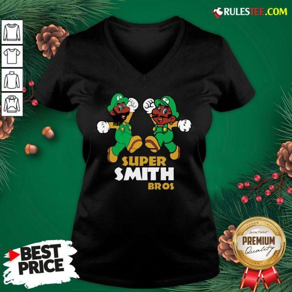 Official Super Smith Bros V-neck - Design By Rulestee.com