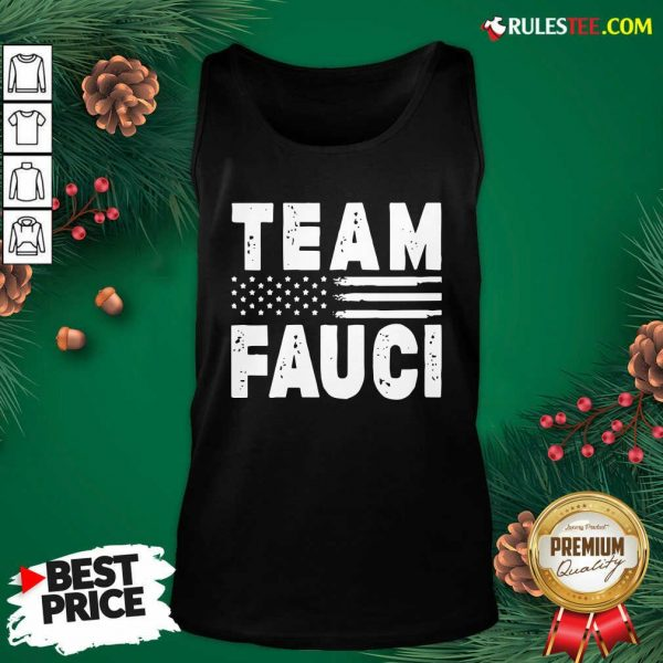 Team Fauci Face Mask American Flag Tank Top - Design By Rulestee.com