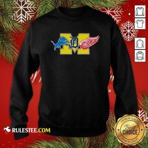 Detroit Lions Detroit Red Wings Danville Blue Devils Sweatshirt- Design By Rulestee.com