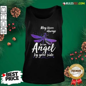 Dragonfly May There Always Be An Angel By Your Side Tank Top - Design By Rulestee.com