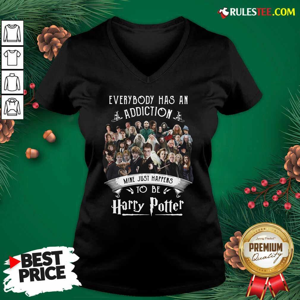 Everybody Has An Addiction Mine Just Happens To Be Harry Potter V-neck - Design By Rulestee.com