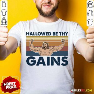 Jesus Hallowed Be Thy Gains Vintage Shirt - Design By Rulestee.com