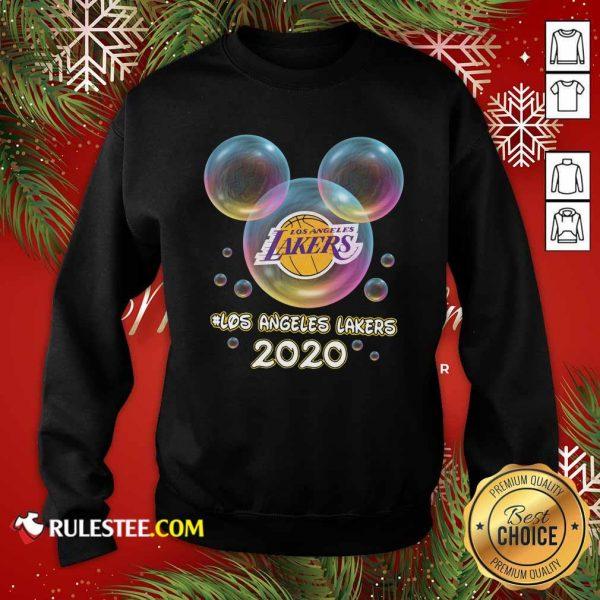 Los Angeles Lakers 2020 Mickey Disney Sweatshirt- Design By Rulestee.com