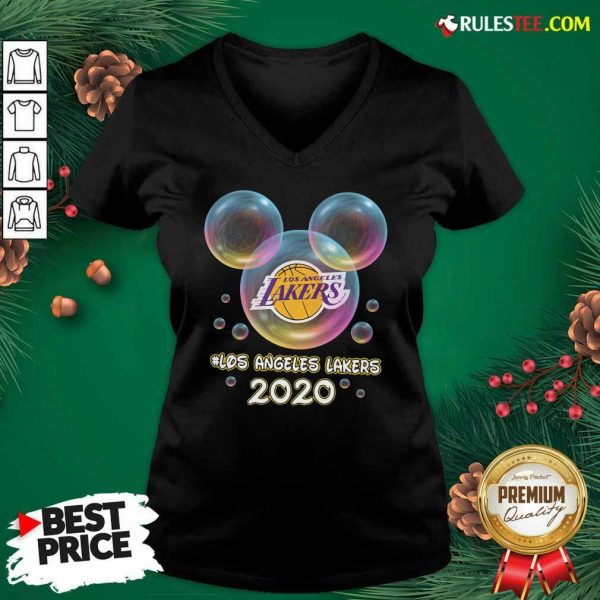 Los Angeles Lakers 2020 Mickey Disney V-neck- Design By Rulestee.com