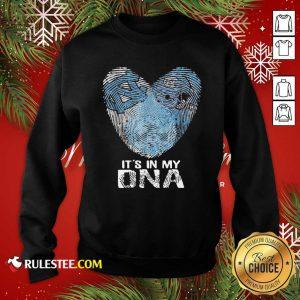 North Carolina Tar Heels Football It's In My DNA Heart Sweatshirt - Design By Rulestee.com