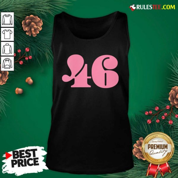 President 46 Number Pink Trump Biden Election Tank Top- Design By Rulestee.com