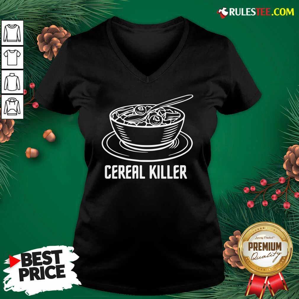 Cereal Killer V-neck - Design By Rulestee.com