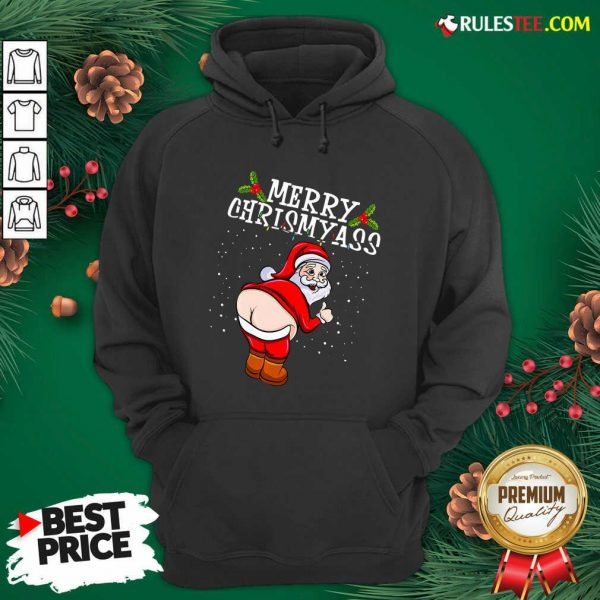 Perfect Christmas Santa Claus Naked Ass Merry Christmass Hoodie - Design By Rulestee.com