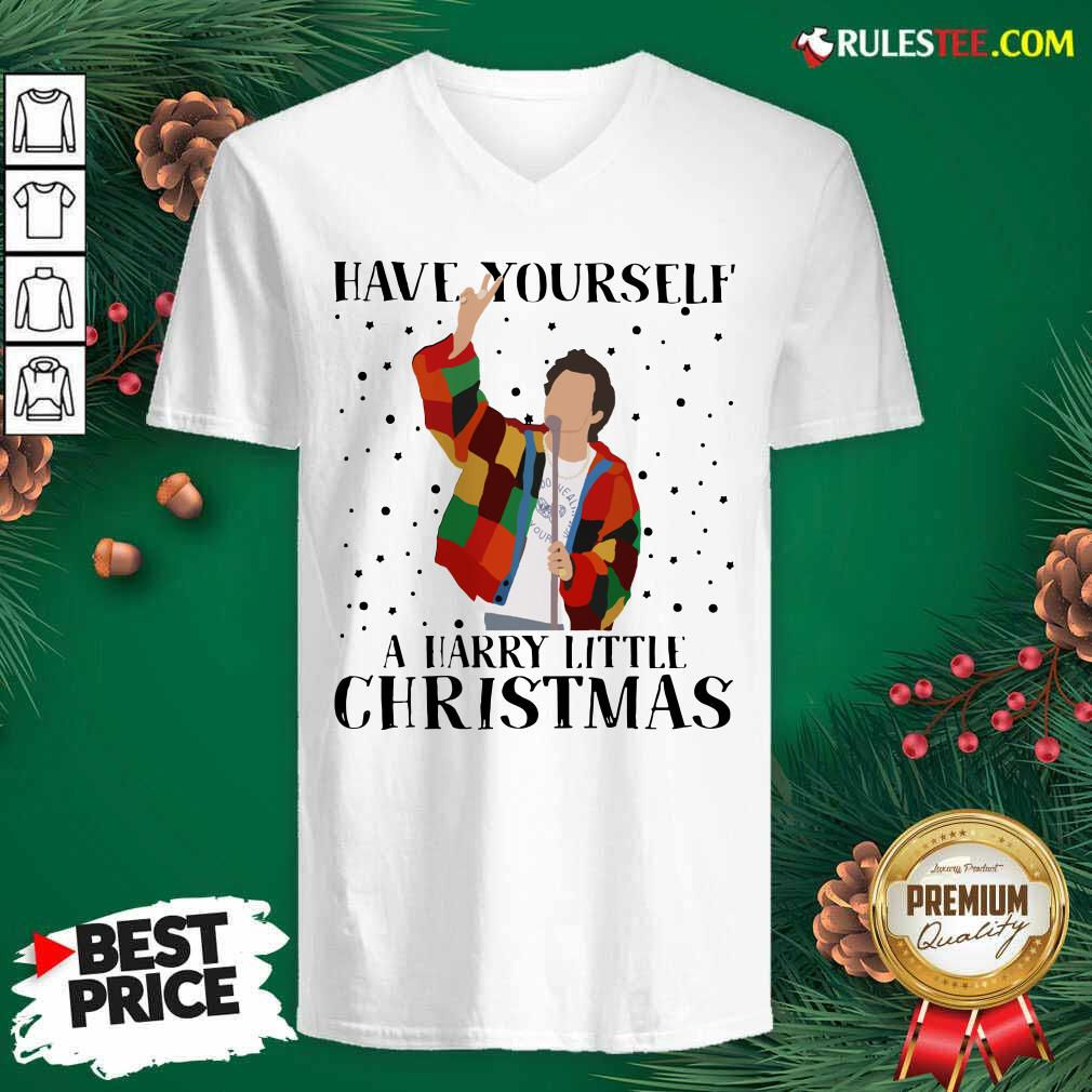 Harry Styles Have Yourself A Harry Little Christmas 2020 V-neck - Design By Rulestee.com