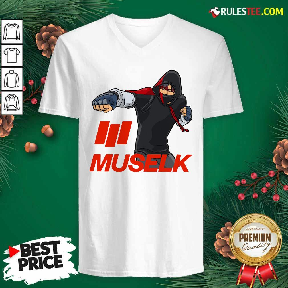 Muselk Punch Red V-neck - Design By Rulestee.com