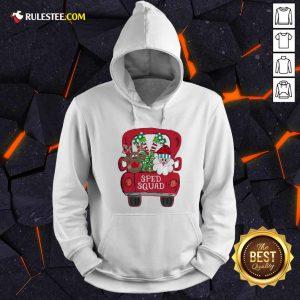 Reindeer Snd Santa Claus Sped Squad Christmas Hoodie - Design By Rulestee.com