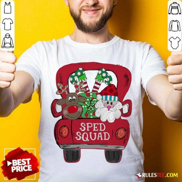 Reindeer Snd Santa Claus Sped Squad Christmas Shirt - Design By Rulestee.com