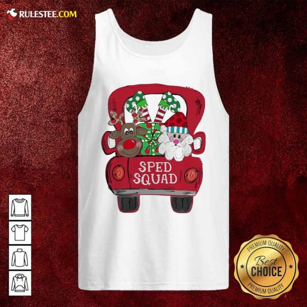 Reindeer Snd Santa Claus Sped Squad Christmas Tank Top - Design By Rulestee.com