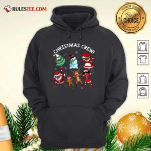 Santa Claus And Friends Dab Dance Dabbing Christmas Crew Hoodie - Design By Rulestee.com
