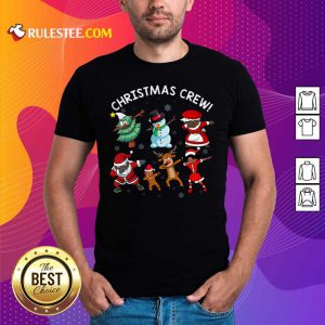 Santa Claus And Friends Dab Dance Dabbing Christmas Crew Shirt - Design By Rulestee.com