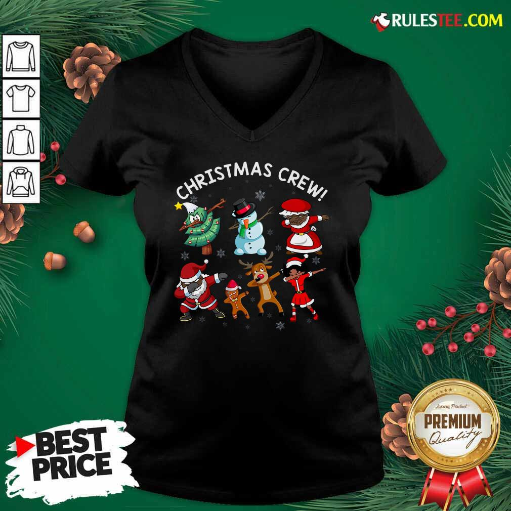Santa Claus And Friends Dab Dance Dabbing Christmas Crew V-neck - Design By Rulestee.com