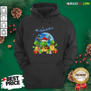 Three Turtle Santa Reindeer Merry Christmas Hoodie - Design By Rulestee.com